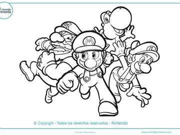 Puzzle de Mario Bros - amusez-vous à assembler ce puzzle avec des personnages du monde de Mario Bros