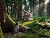 Szarvas az erdőben