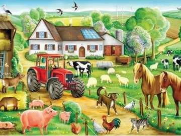 Country animals. - Puzzle. Country animals.
