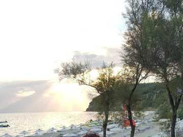 SUNSET AT SEA - What a beautiful sunset at sea looks like