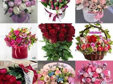 Tarjeta de felicitación - En esta imagen se representan flores