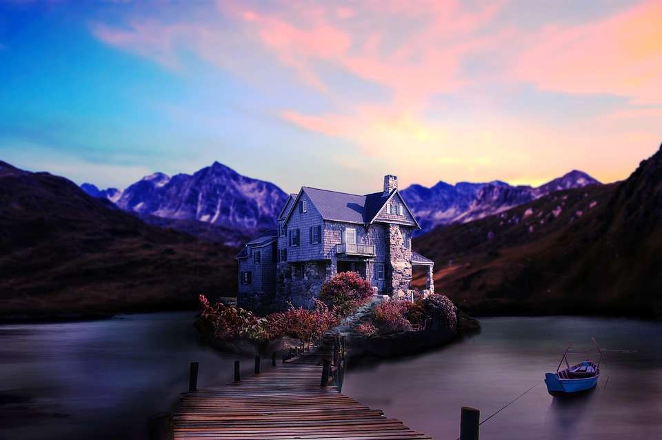 idílica casa en el lago - lugar idílico con casa en el lago