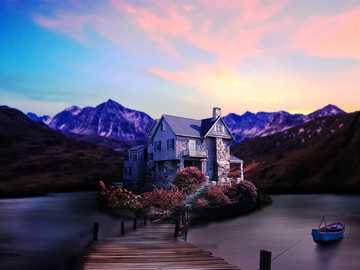 casa idilliaca sul lago - luogo idilliaco con casa sul lago