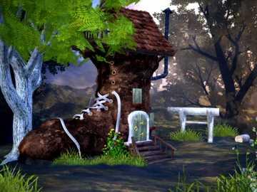 Dom w lesie - dziwny dom w lesie