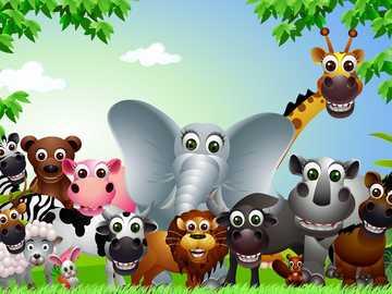 WILD UND INLÄNDISCH - Tier um uns herum Puzzle ....... Finde die Haus- und Wildtiere