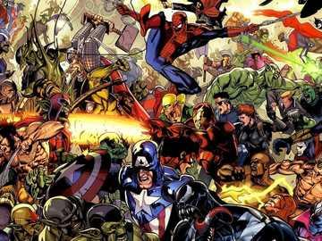 Bandes dessinées Marvel - Héros et méchants de l'univers Marvel