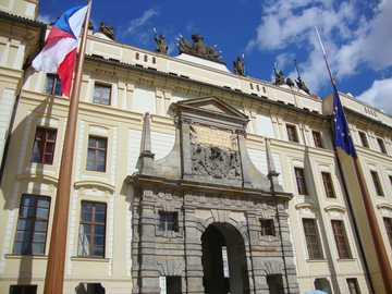 Prague - Czech Republic - Hradčany - Presidential Palace.