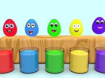 In diesem Bild lernen wir die Farben - Farben in der kleinen Gruppe