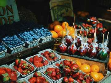 strawberry fruit lot - Colourful summer berries offer a healthier alternative to dessert - sold at The Grounds, Alexandria