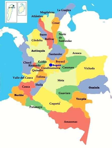 χάρτης της Κολομβίας - συγκεντρώστε το χάρτη στο συντομότερο δυνατό χρόνο (5×7)
