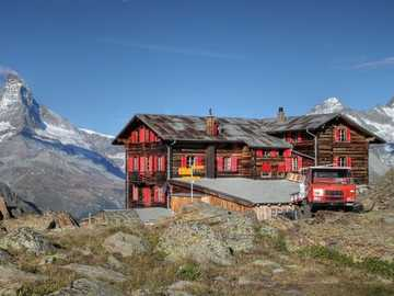 A chalet in Zermatt. - A chalet in Zermatt.