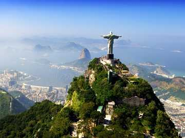 Christ the Savior statue - Corcovado mountain and the statue of Christ the Savior