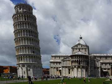 Leaning Tower of Pisa - The 55 meter high Leaning Tower of Pisa