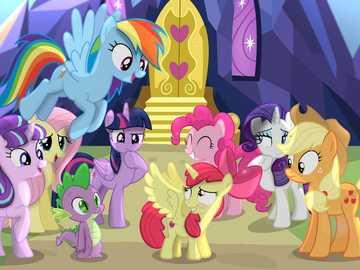 """Mi pequeño Pony - """"Un matrimonio feliz es una conversación larga que todavía se siente demasiado corta""""."""