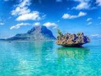 Ένα μοναχικό νησί - Ένα μοναχικό νησί στο νερό
