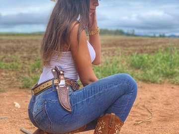 Cowgirl untersucht Spuren - Cowgirl untersucht Spuren