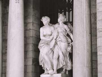 Mexique, Bellas Artes. - photographie architecturale de la statue de la femme.