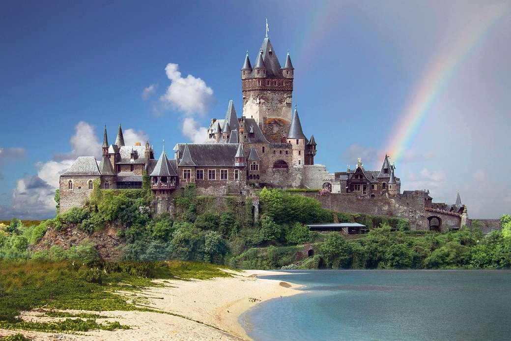 Zamek nad morzem - Zamek nad morzem z tęczą