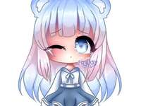 anime crying - Crying anime girl. She is crying she has blue eyes and a dress.
