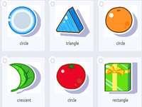 cirkel driehoek cirkel halve maan cirkel rechthoek