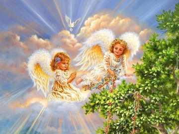 Engel, Karte - Grußkarte