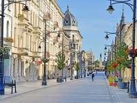 Łódź - séta a sétány mentén - csendes séta a város központjában