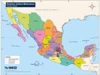 Carte de la République mexicaine