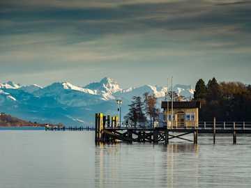 Lago di Costanza. - Puzzle di paesaggio.