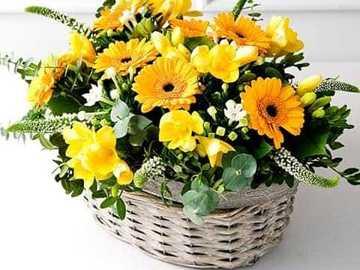 Bukiet kwiatów - Ten obraz przedstawia bukiet