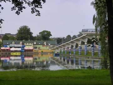 Augustow - Il canale Augustów ad Augustów