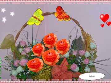 Komposition - Blumenarrangement ///