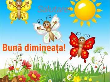Fluturașii veseli - Fluturașii în câmpul cu flori