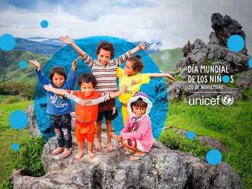 unicef 20 de noviembre - une todas fichas y descubre la imagen
