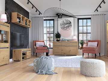 meubles à la mode dans la chambre