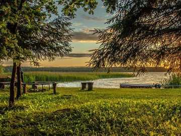 Distrito de los lagos de Rajgrodzkie - Rajgrodzkie Lake District en verano