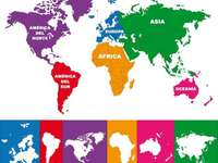 Kontinensek térképe