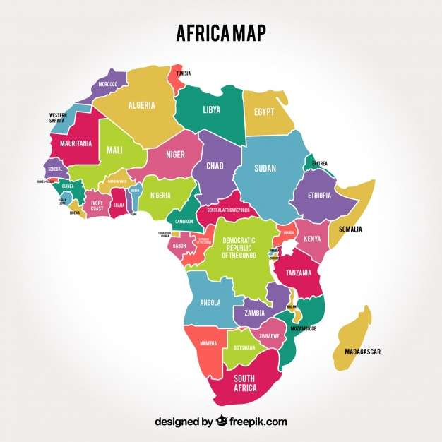 Afrika térképe - szerelje össze a térképet a lehető legrövidebb időn belül (5×5)