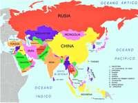 Ázsia térkép