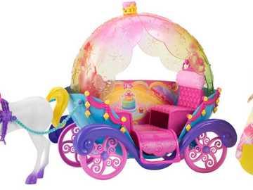 Mattel Lalka Barbie z karocą oraz jednorożcem - Mattel Lalka Barbie z karocą oraz jednorożcem (DPY38)