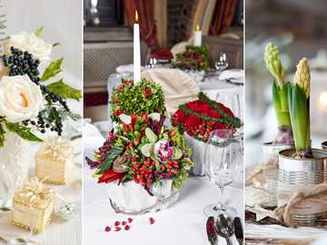 Dekoracje kwiatowe na stół - Dekoracje kwiatowe na stół