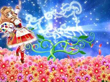 Premium Around Bouquet(Constellation) - Aurora Fantasy品牌的星座魅力秀。偶像的姿勢、背景顏色與裝飾,因服裝主題�