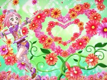 Around Bouquet(Romance) - Aurora Fantasy的品牌魅力秀。偶像的姿勢、背景顏色與裝飾,因服裝主題與稀�