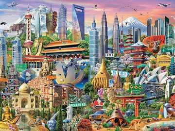 Edifici del mondo. - Puzzle: edifici del mondo.