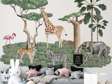 Pokój dla dziecka z piekną tapetą - Pokój dla dziecka z piekną tapetą