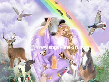 Anioł otoczony zwierzątkami - Anioł otoczony zwierzątkami