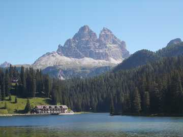 misurina - Lake of Misurina in Veneto