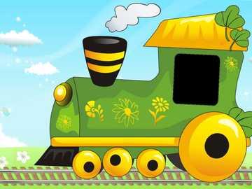 паровозик супер - паровозик едет в детский сад