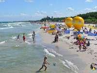 beach in Łeba ... - beach in Łeba ..................