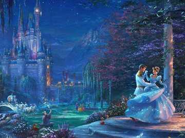 Золушка на балу - Золушка и принц танцуют на балу