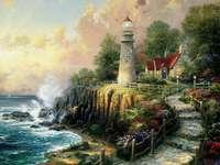 Maison avec un phare